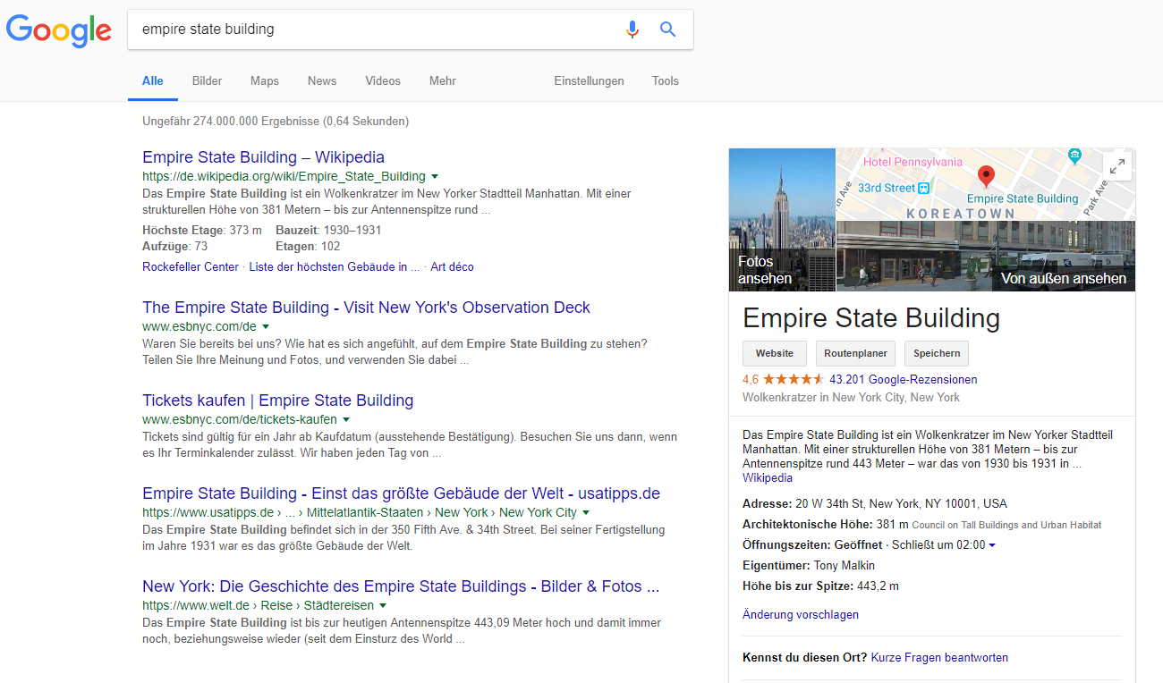 Knowledge Graph Empire State Building
